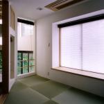 和室:スキップフロアで各室が断面的に見え隠れしていく。